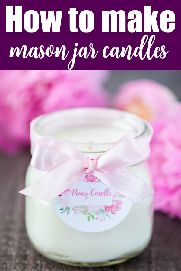 How to make make mason jar candles