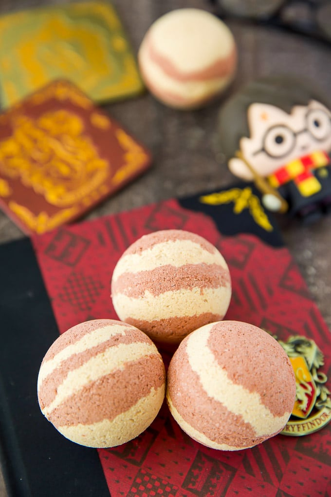 Harry Potter Inspired Butterbeer Bath Bombs