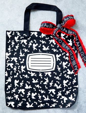 How to make a personalized composition book tote bag #totebag #teacherappreciation