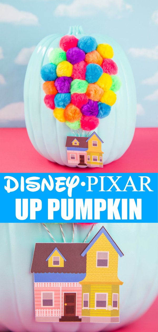 How to make a no-carve Disney Pixar UP Pumpkin - easy craft idea for kids