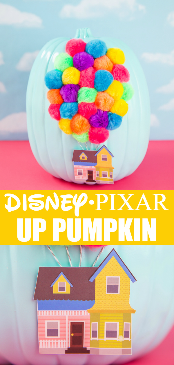 Easy no-carve pumpkin decorating idea for kids inspired by Disney Pixar UP