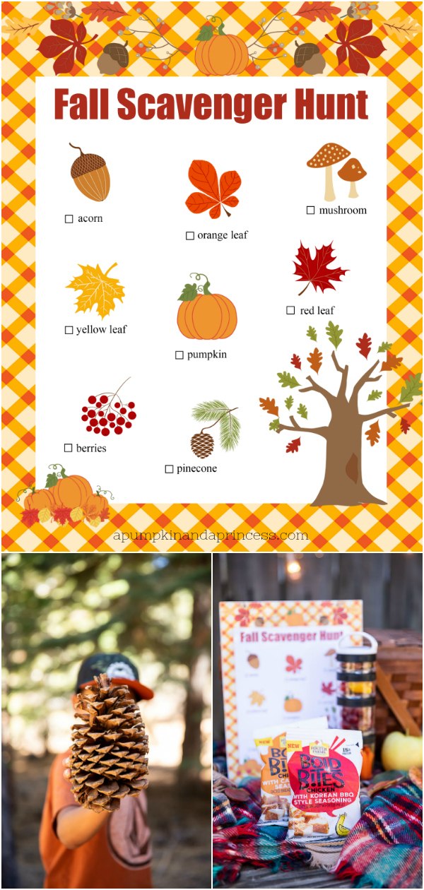Fall scavenger hunt printable for kids and easy picnic ideas
