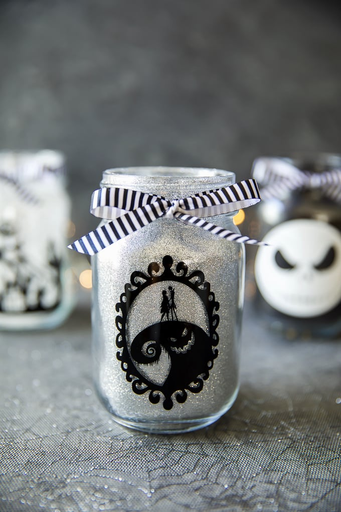 Jack Skellington and Sally Mason Jar