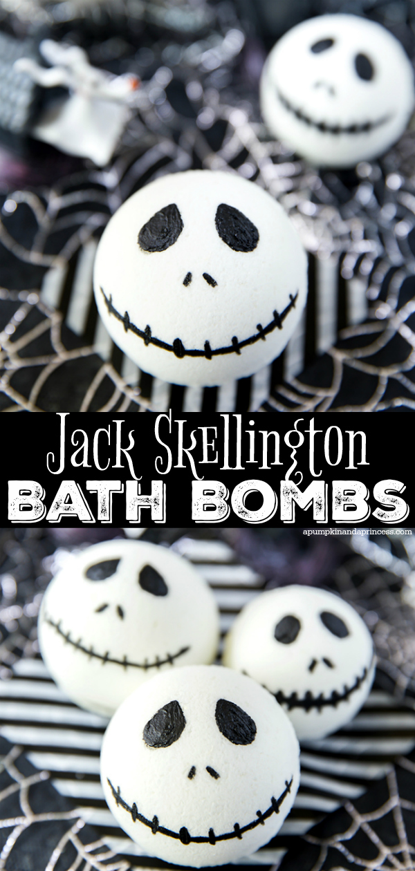 How to make Jack Skellington Bath Bombs