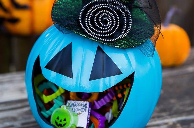 Allergy-free Halloween Pumpkin Treat Holder