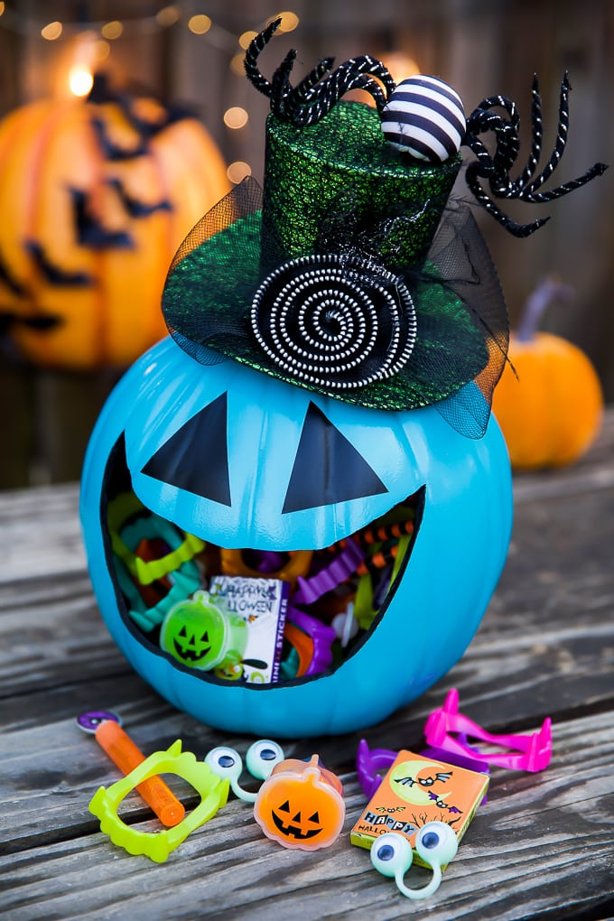 Allergy-free Halloween Pumpkin Treat Holder