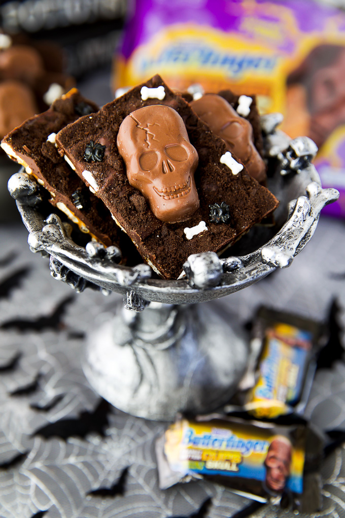 Sweet, Salty Graveyard Candy Bark