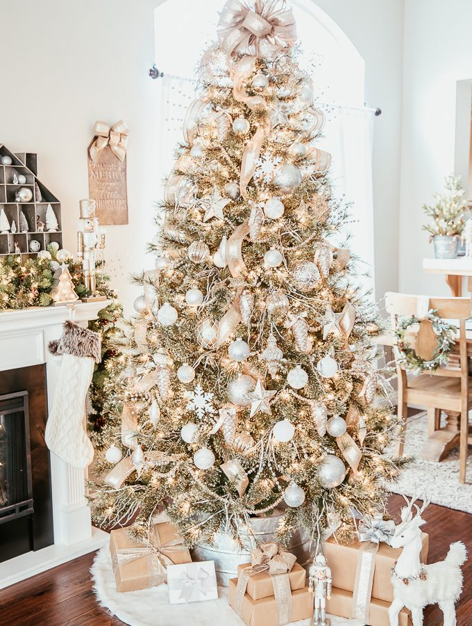 How to decorate a beautiful, classic silver and gold Christmas tree