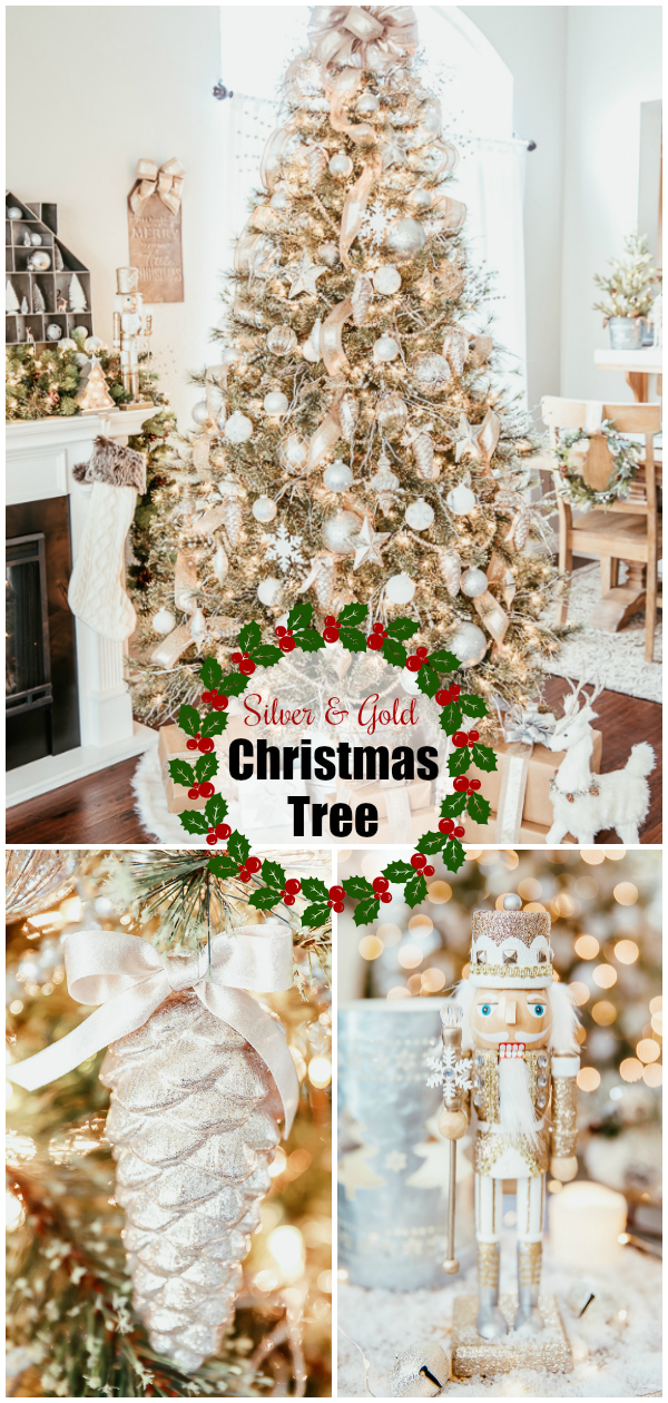 Silver and Gold themed Christmas Tree. Tips and tricks for decorating a beautiful tree