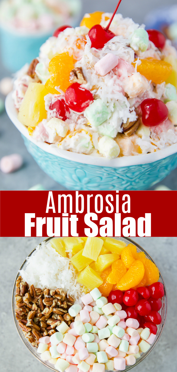 The best ambrosia marshmallow fruit salad
