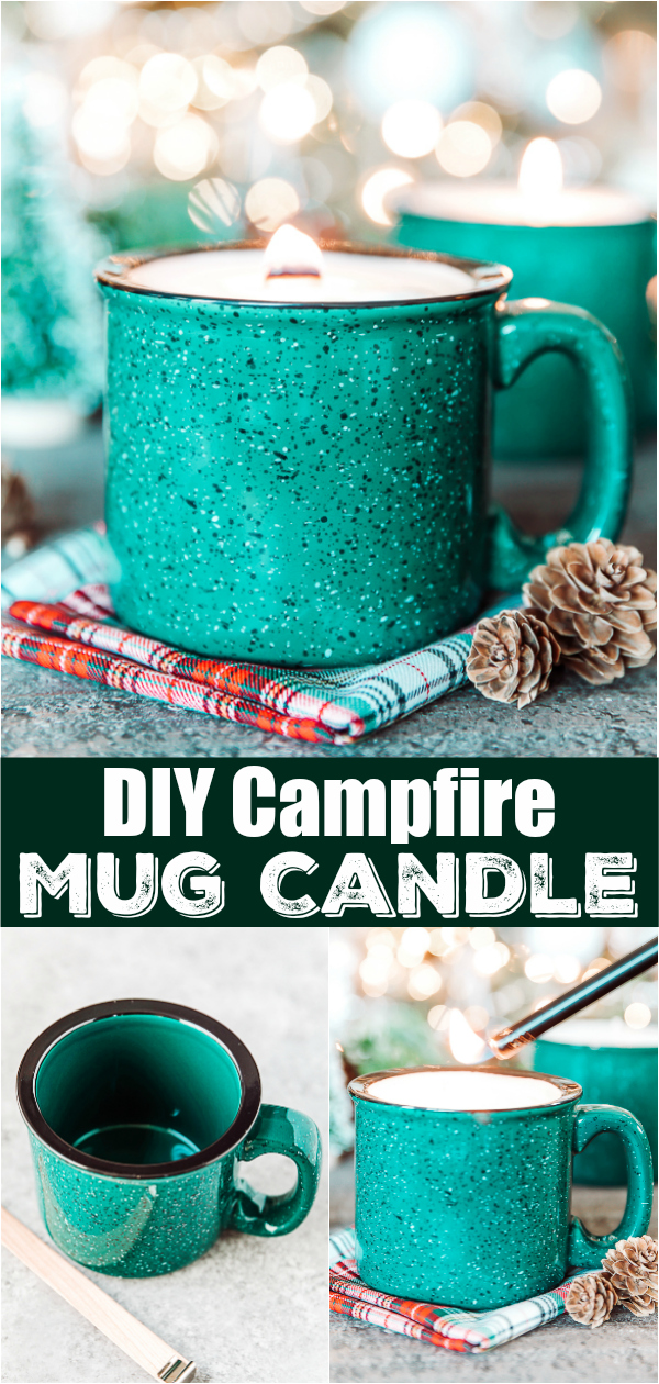 DIY Mug Candle - how to turn a mug into a soy wax candle that smells incredible and makes a great handmade gift!