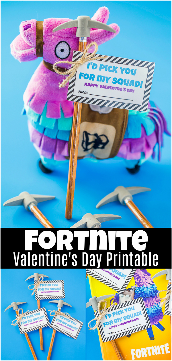 image relating to Fortnite Printable named Fortnite Pencil Valentines - A Pumpkin And A Princess