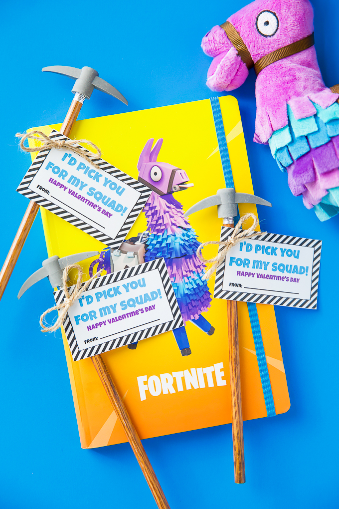 Fortnite Pencil Valentines - A Pumpkin And A Princess