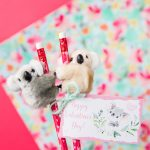 Koala Pencil Topper Valentines