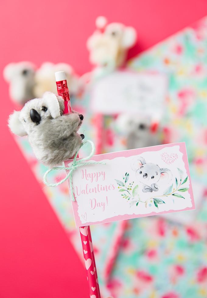 Koala pencil huggers and printable cards