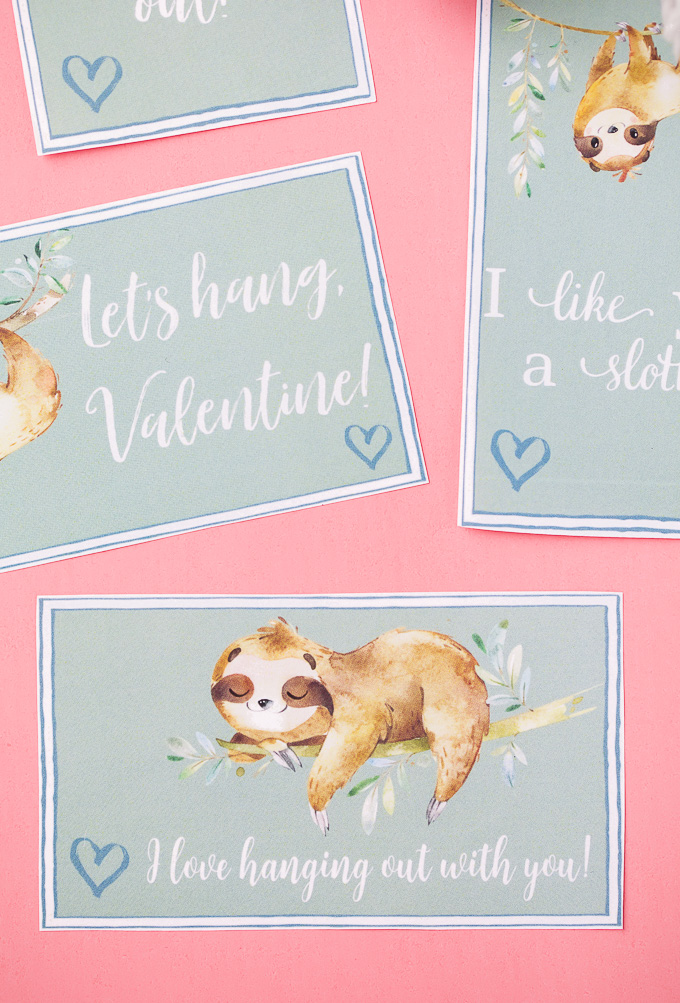 Easy DIY Sloth Valentine's Day ideas
