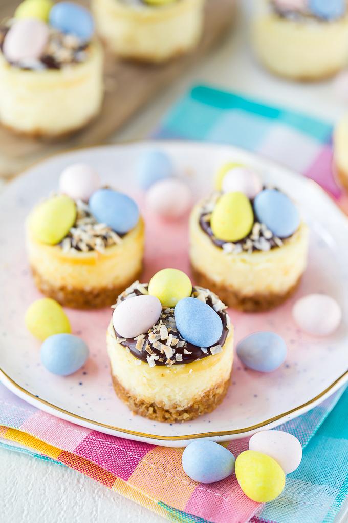 Mini cheesecake Easter dessert recipe