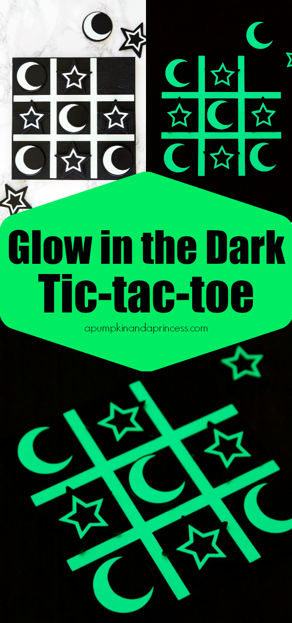 DIY Glow in the Dark Tic Tac Toe Game Board