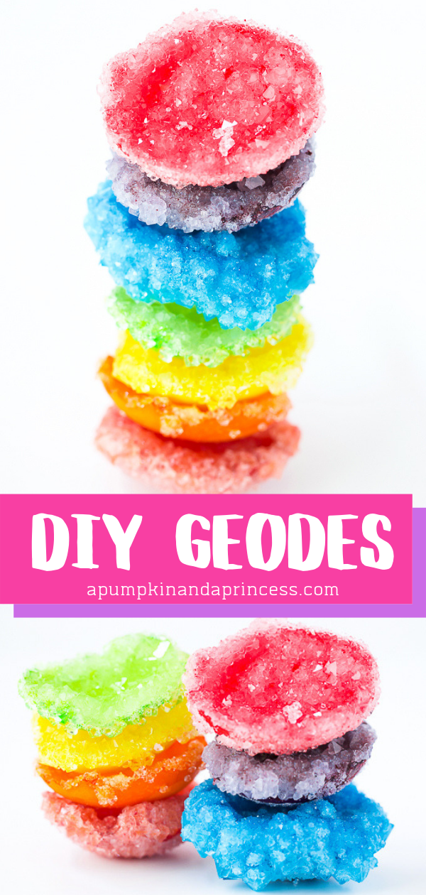 Crystal geodes made with only 3 ingredients!