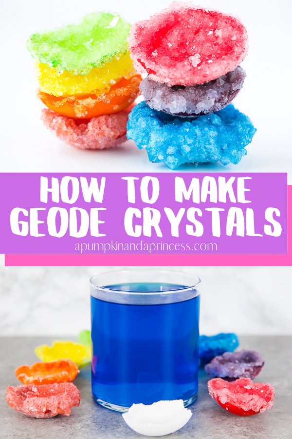 DIY Geodes - only 3 ingredients and an easy science craft for kids