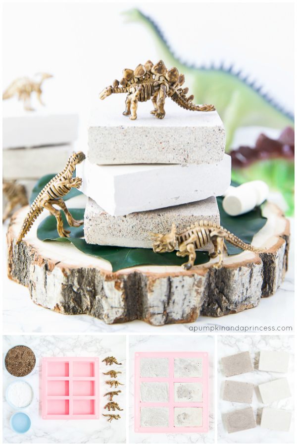 How to make your own dinosaur dig excavation bricks