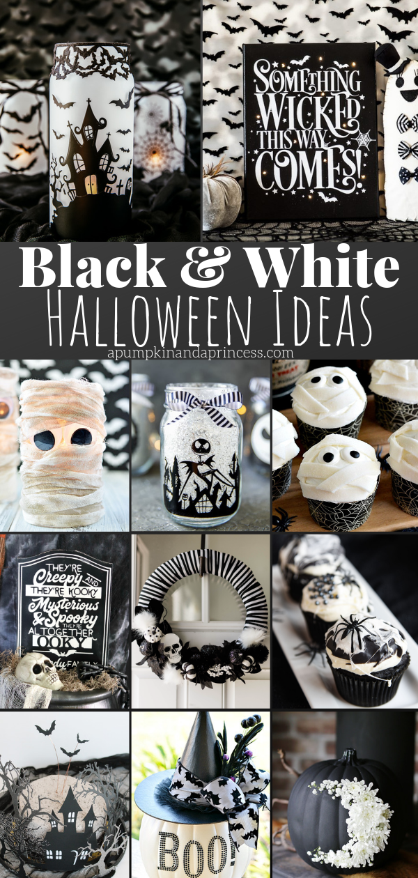 Creative black and white Halloween ideas
