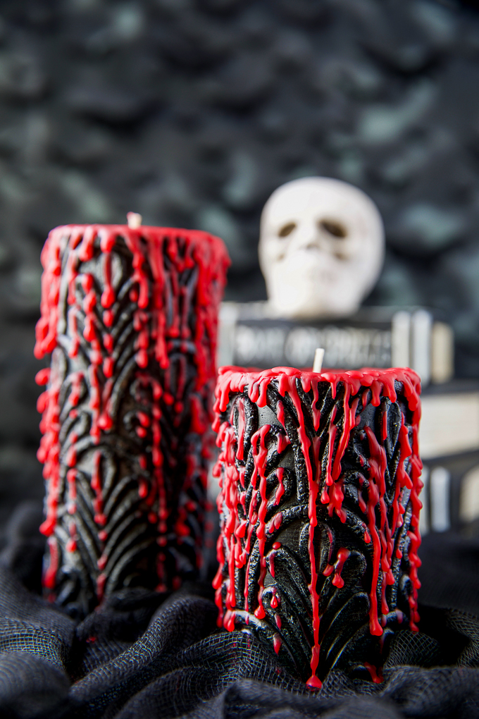 Spooky, creepy, and festive bleeding candles for Halloween
