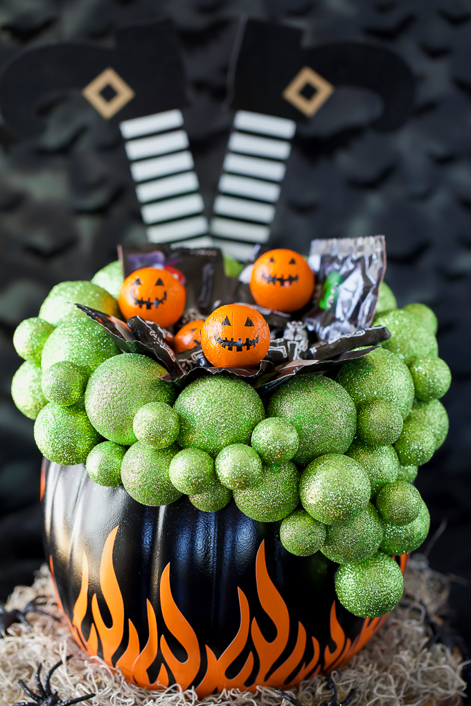 Cauldron Pumpkin DIY Candy Bowl