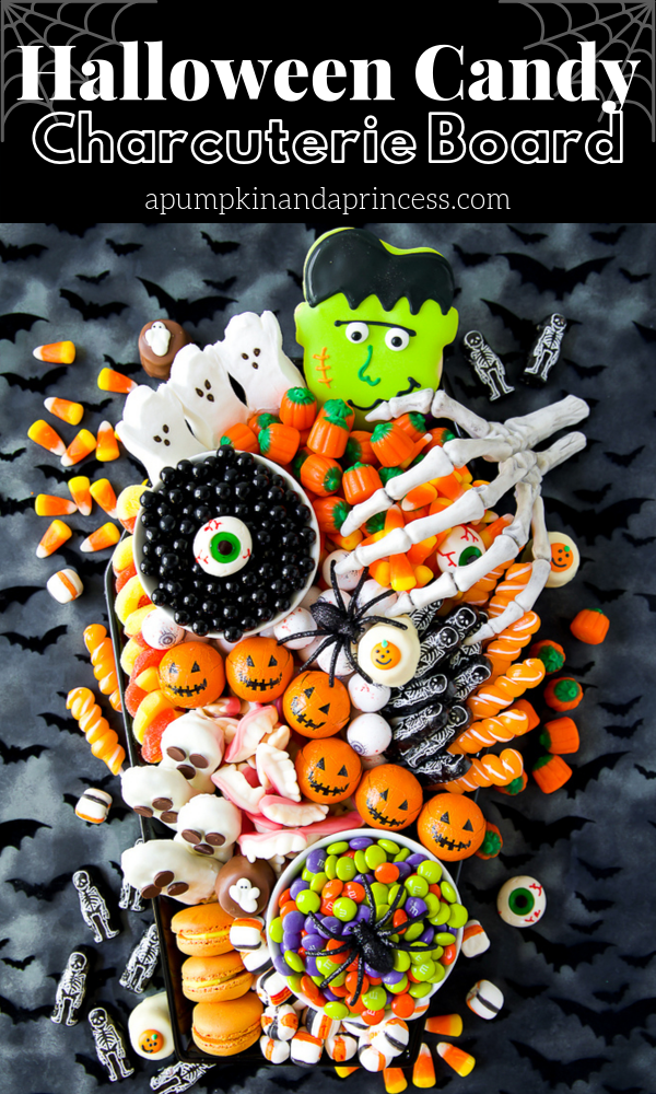 Halloween party candy charcuterie board ideas