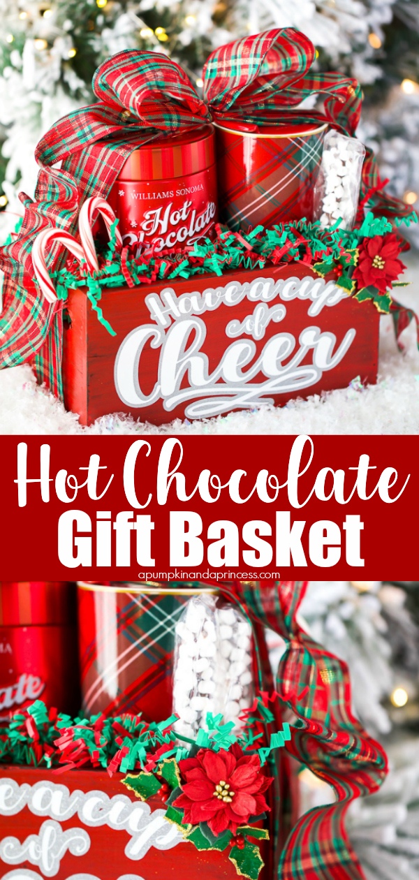 Create a beautiful handmade hot chocolate gift basket in a few simple steps!