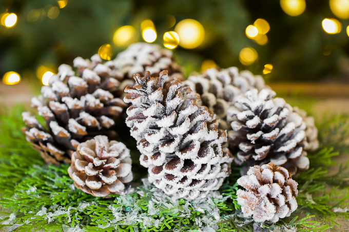 how to make flocked pine cones - 3 different ways!