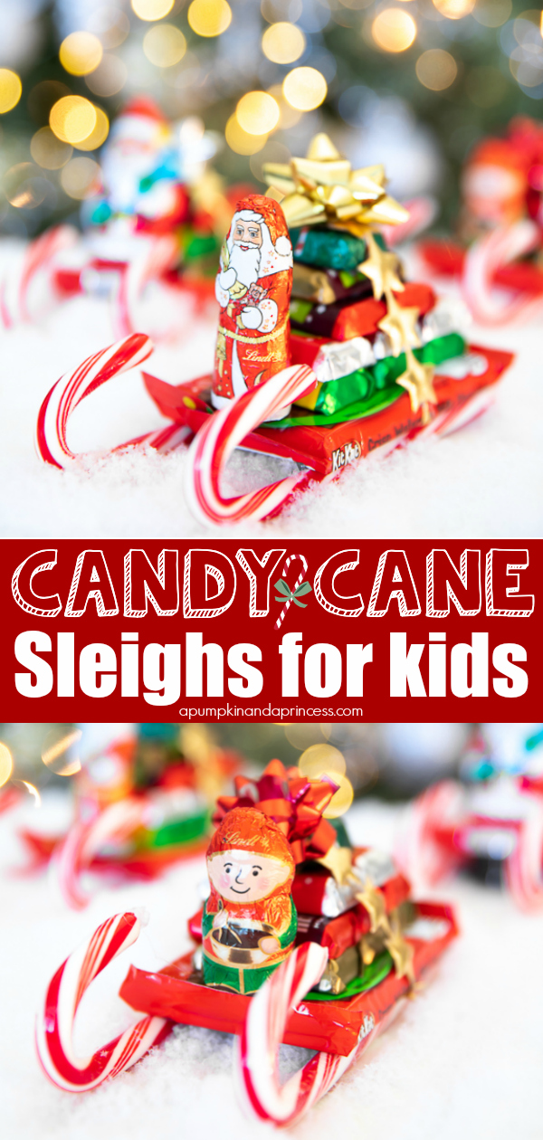 How to make candy cane sleigh gifts for kids