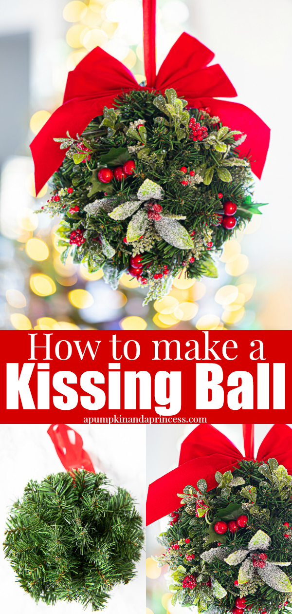 Christmas kissing ball tutorial
