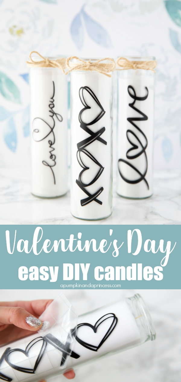 How to decorate candle jars for Valentine's Day