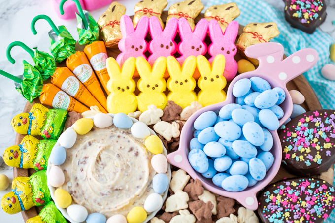 How to make a beautiful and festive Easter dessert candy board