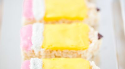 pencil shaped Rice Krispies treats for back to school teacher gifts