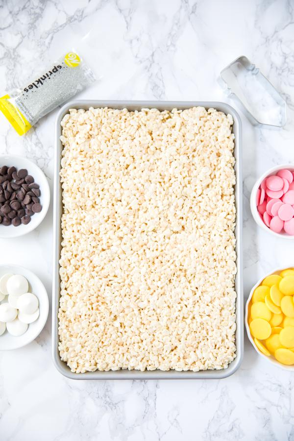 how to make sheet pan Rice Krispies