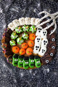 Spooky Halloween treats for a Halloween party and scary movie night