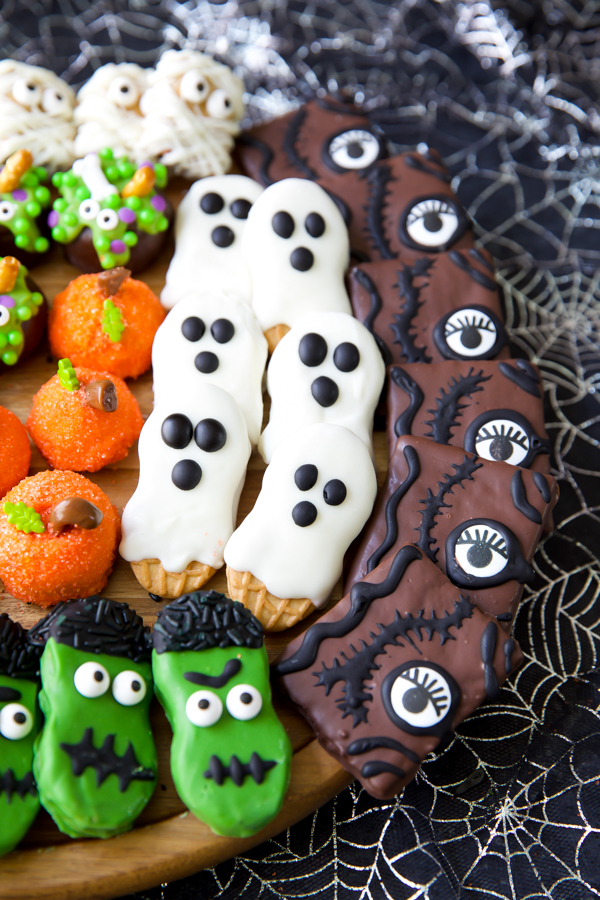 movie night inspired Halloween treat platter