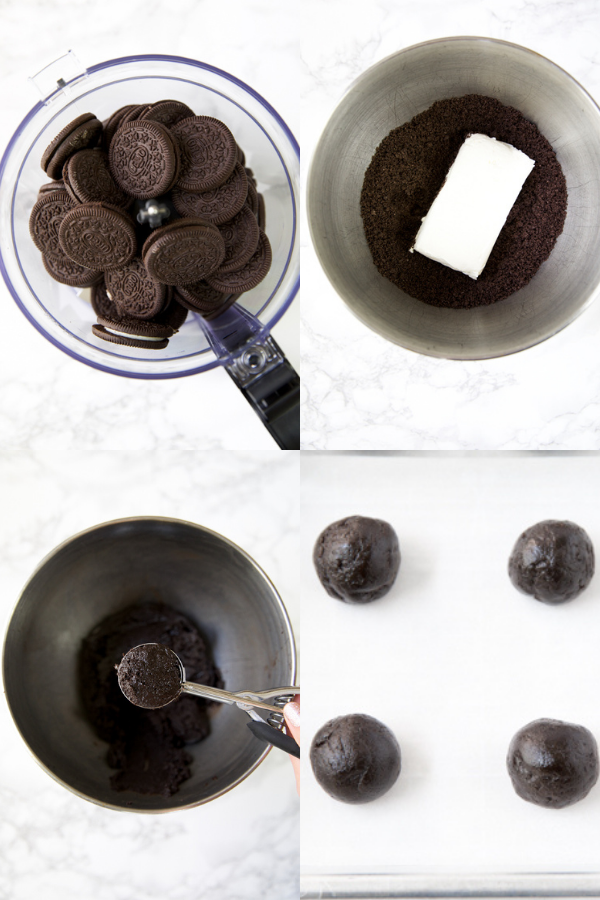 easy 3 ingredient oreo ball recipe step by step