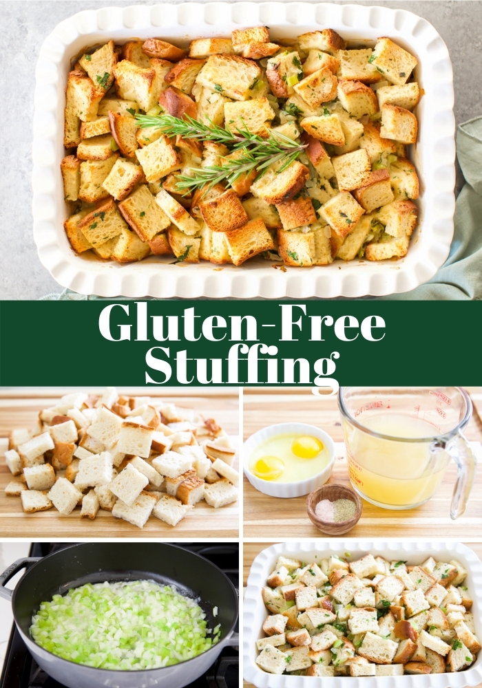 How to make gluten-free stuffing step-by-step tutorial