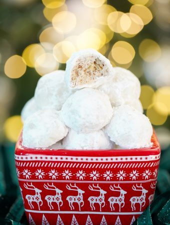 Classic Snowball cookie recipe adapted with gluten free flour