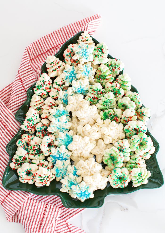 spritz cookies made with gluten-free flour