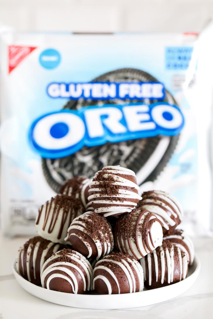 Oreo balls made with gluten-free oreo cookies recipe