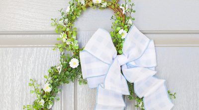 Easy spring wreath craft tutorial