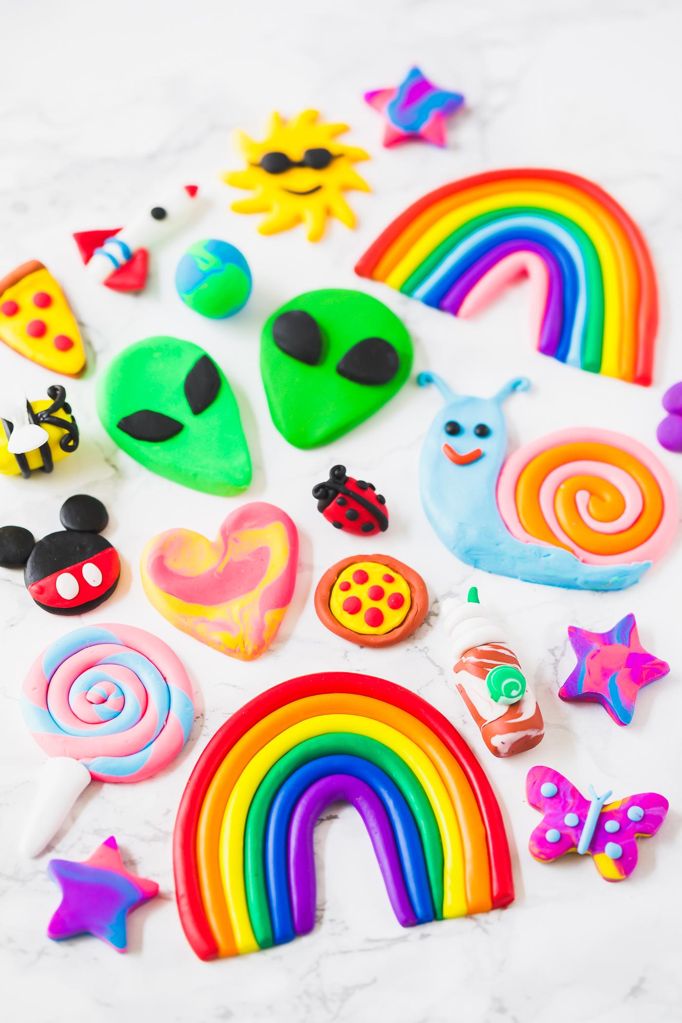 cute kawaii clay designs