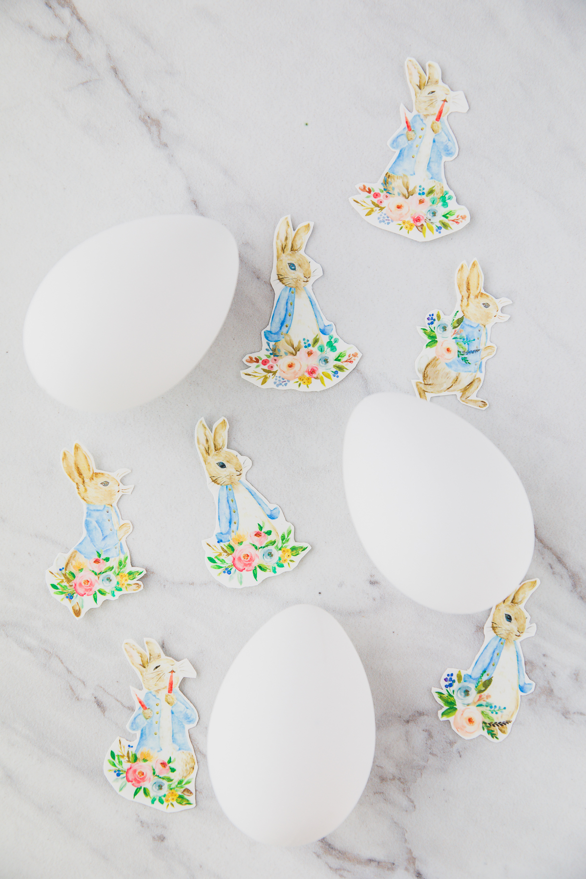 clear waterslide decal paper on eggs