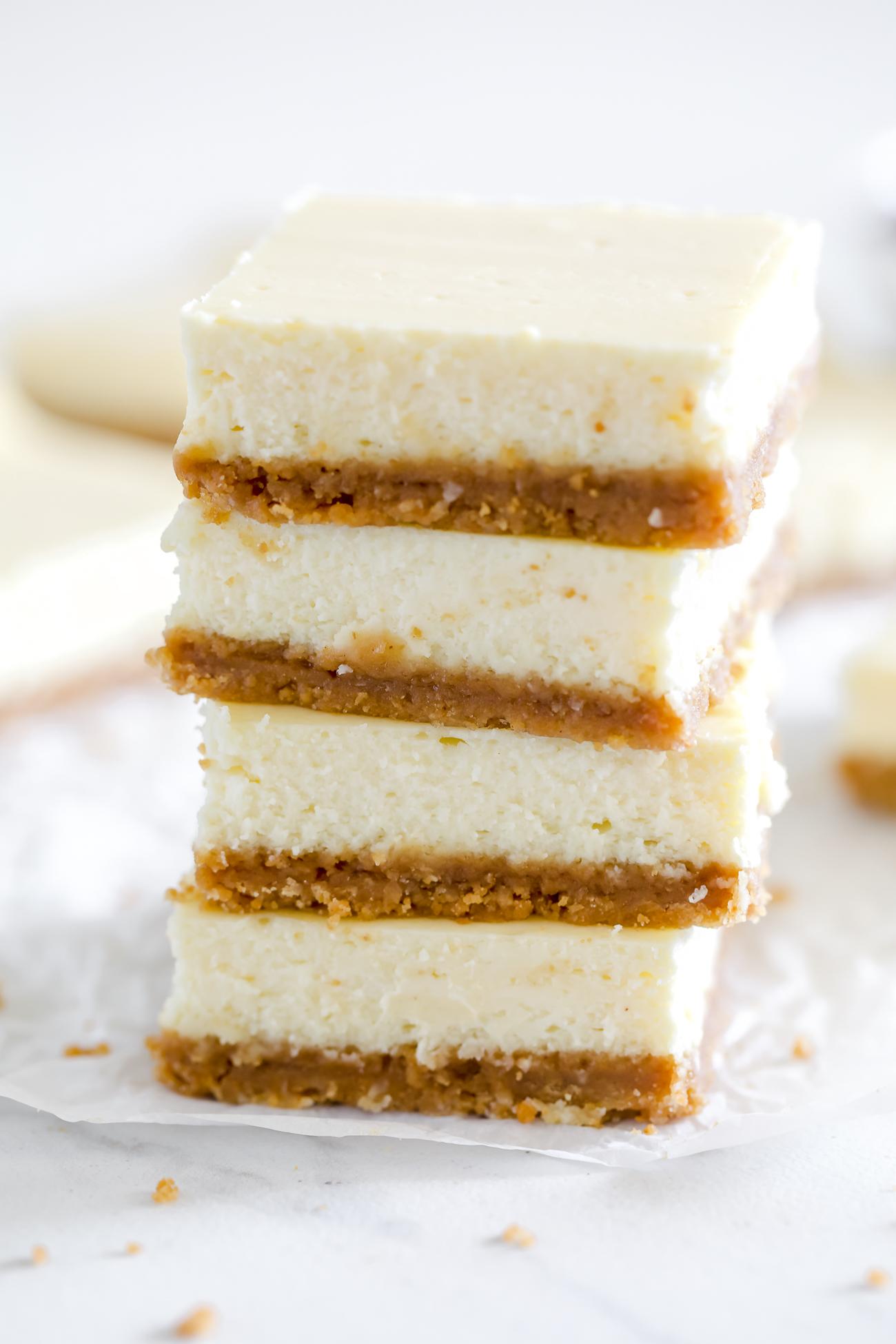 cheesecake bars - simple recipe