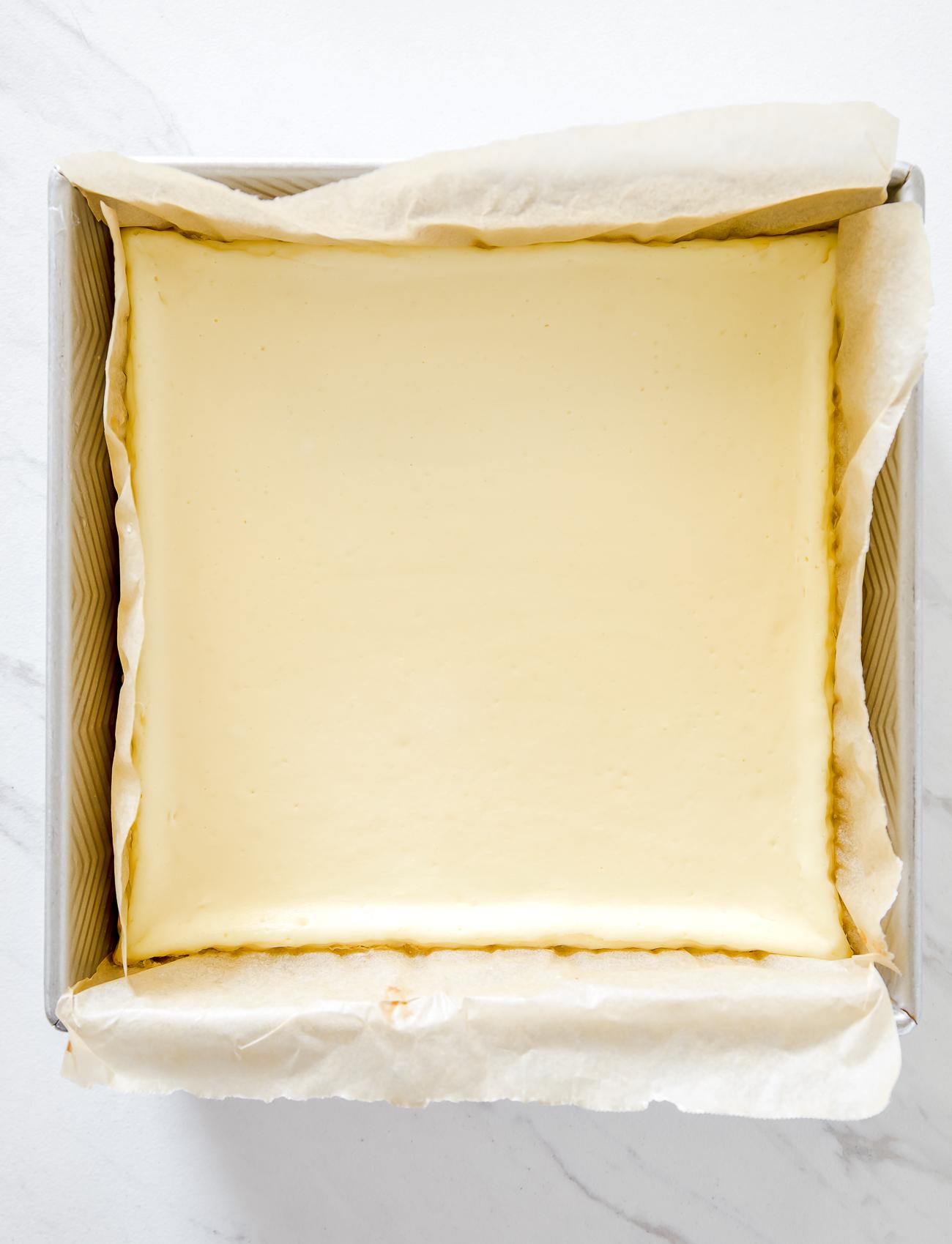 small batch cheesecake bars