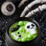 green witchs' brew cauldron candle